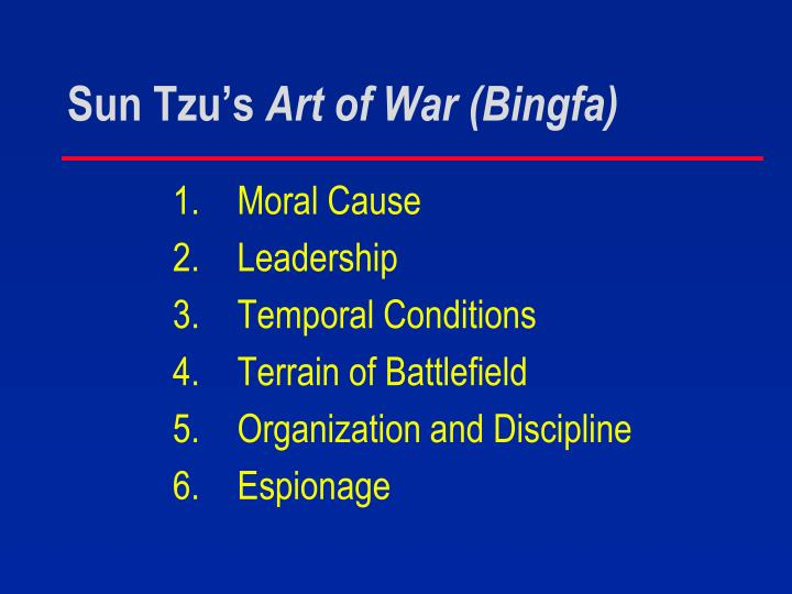 Sun Tzu's