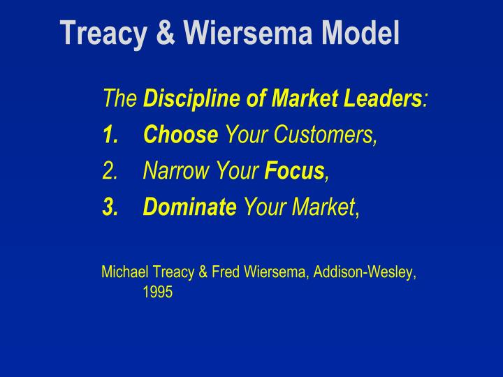 Treacy & Wiersema Model