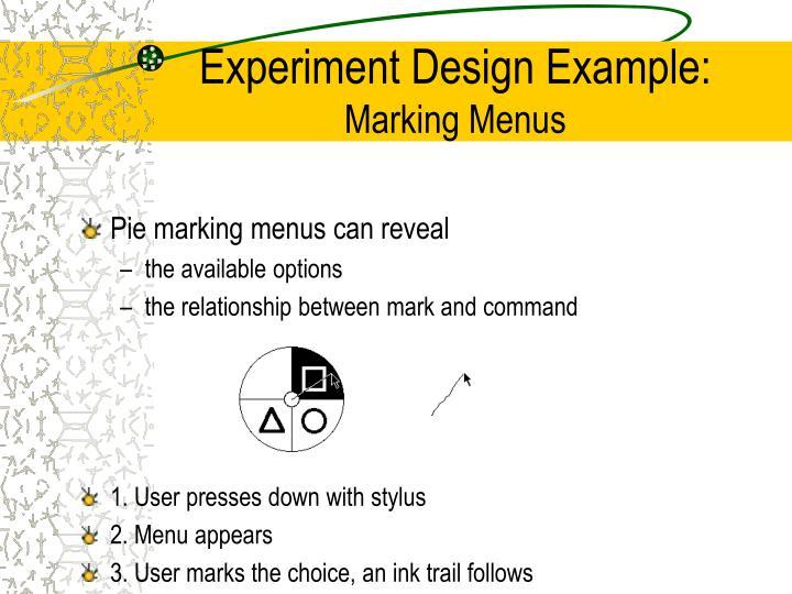 Experiment Design Example:
