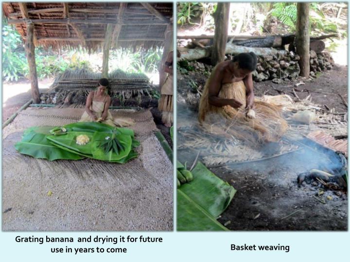 Grating banana  and