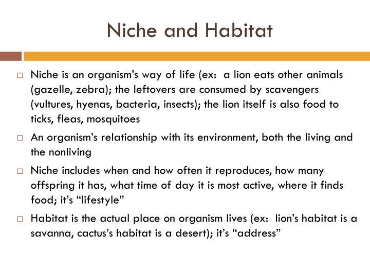 Niche and Habitat