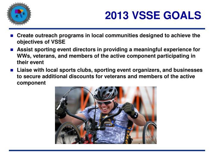 2013 VSSE GOALS