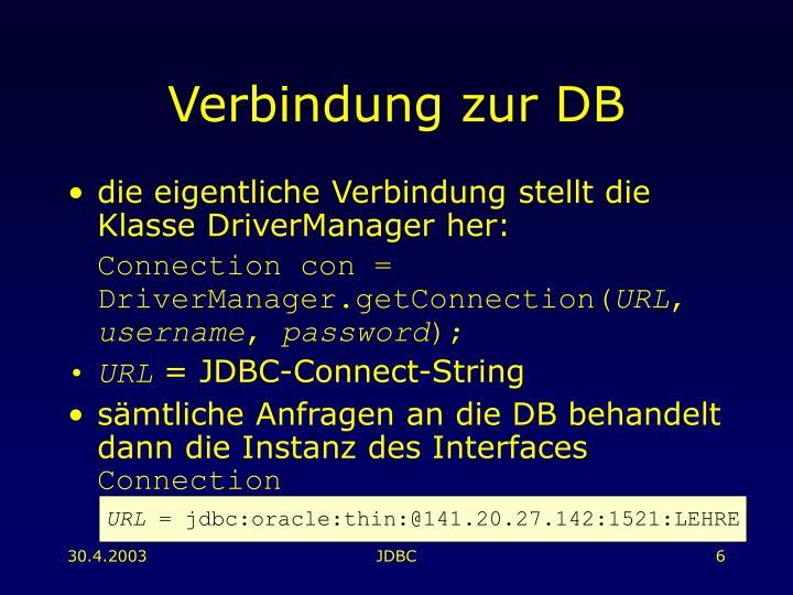 Verbindung zur DB