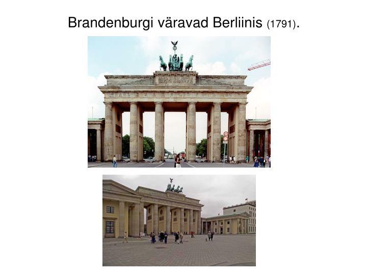 Brandenburgi väravad Berliinis