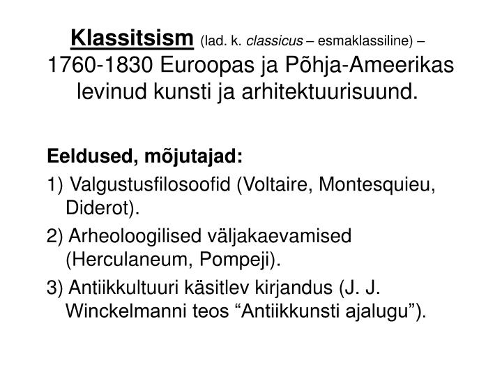 Klassitsism