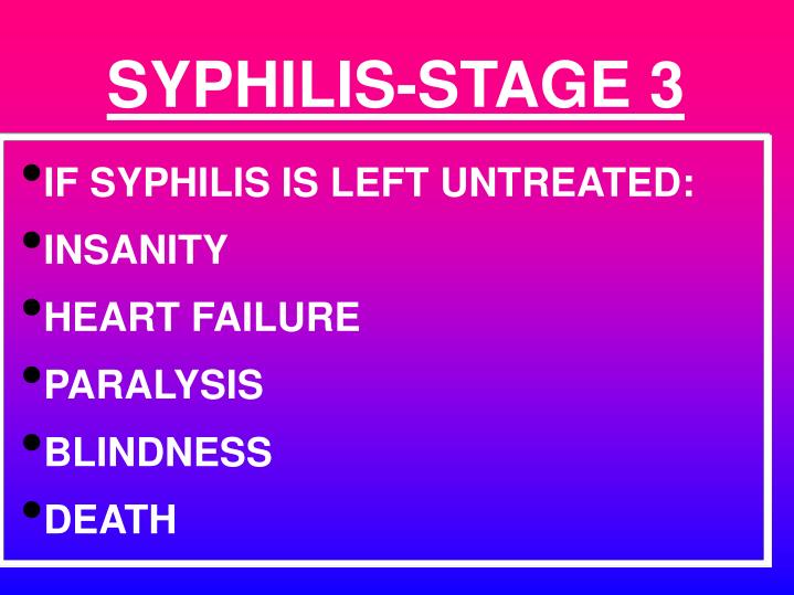 SYPHILIS-STAGE 3