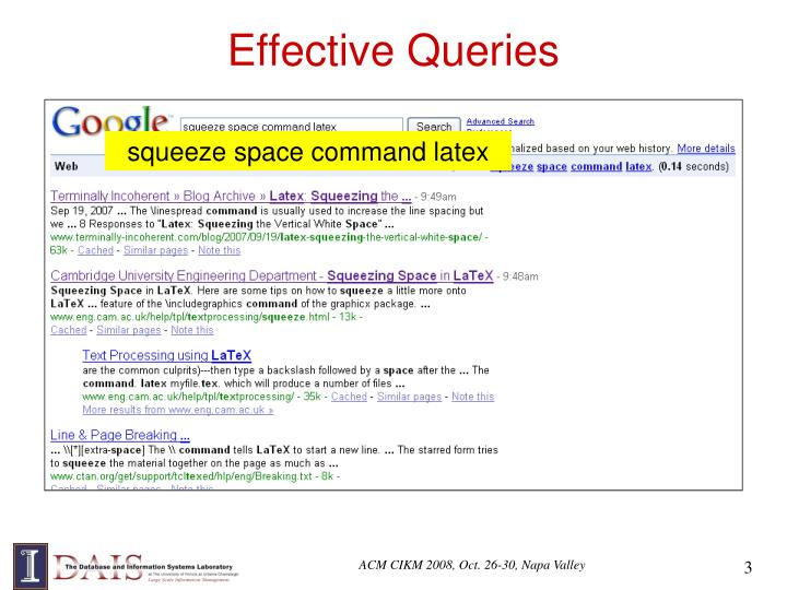 Effective Queries