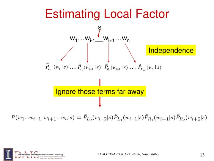 Estimating Local Factor