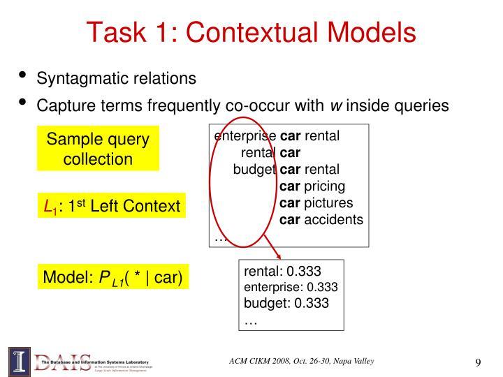 Task 1: Contextual Models
