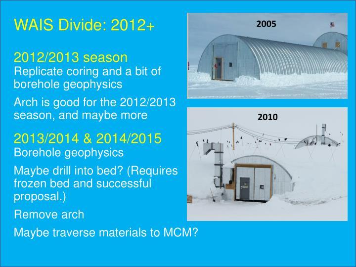 WAIS Divide: 2012