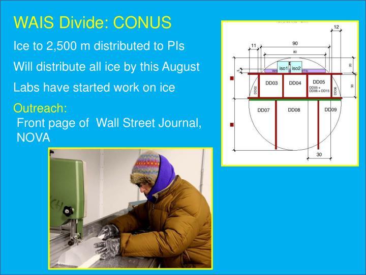 WAIS Divide: CONUS