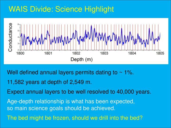 WAIS Divide: Science Highlight
