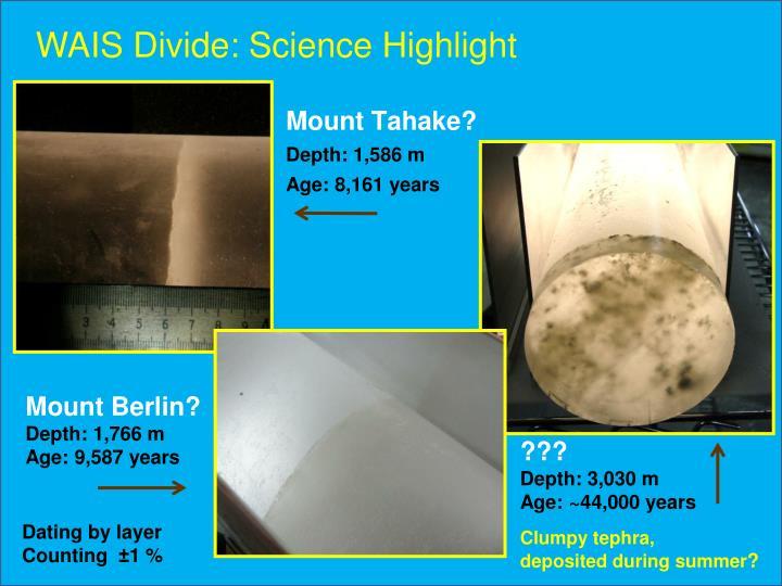 WAIS Divide: Science