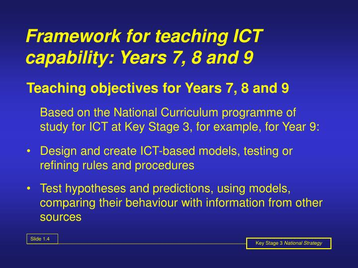 Framework for teaching ICT capability: Years 7, 8 and 9