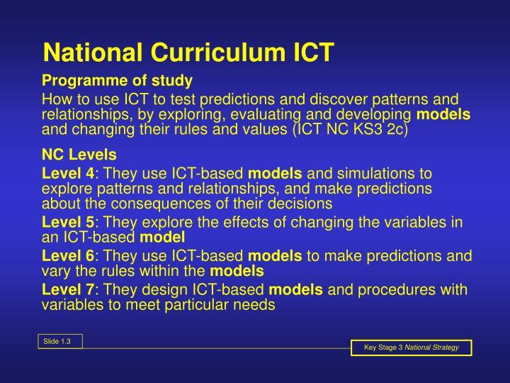 National Curriculum ICT