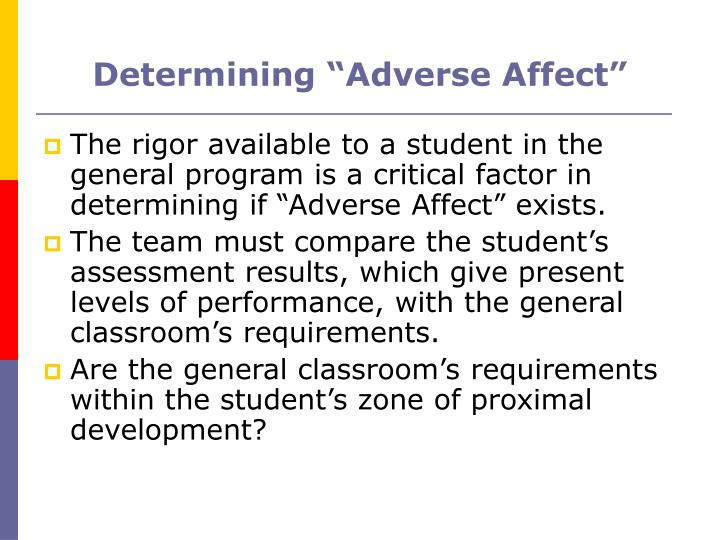 "Determining ""Adverse Affect"""