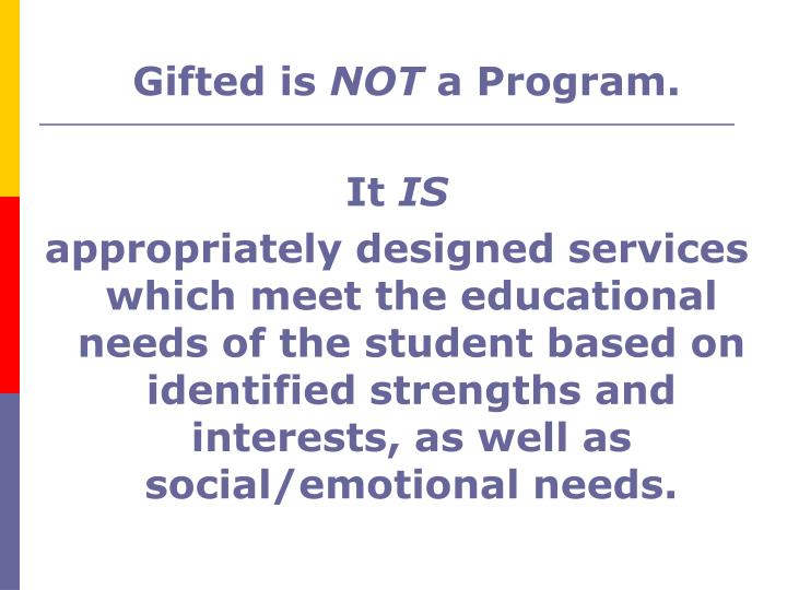 Gifted is