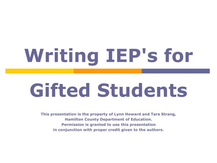 Writing iep s for
