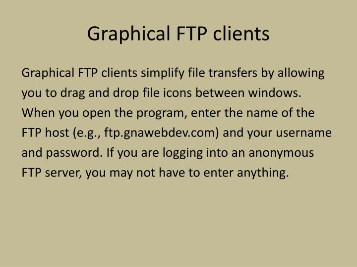 Graphical FTP clients