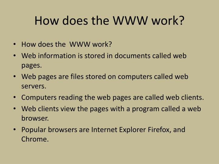 How does the WWW work?