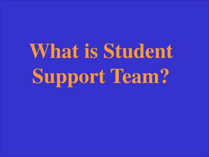 What is Student Support Team?
