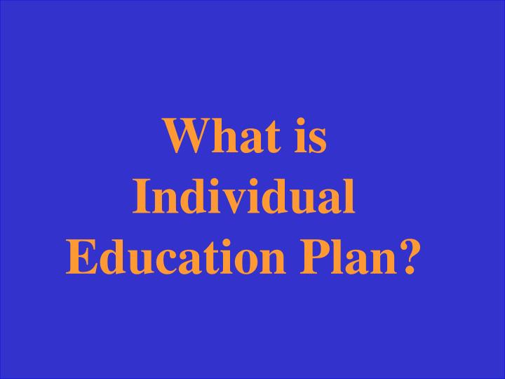 What is Individual Education Plan?