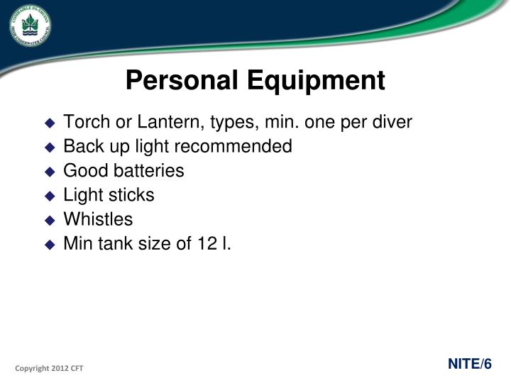 Personal Equipment