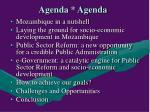 agenda agenda