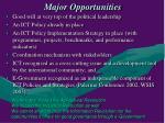 major opportunities