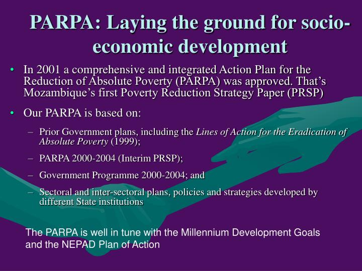 PARPA: Laying the ground for