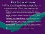 parpa s main areas