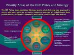 priority areas of the ict policy and strategy