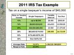 2011 irs tax example