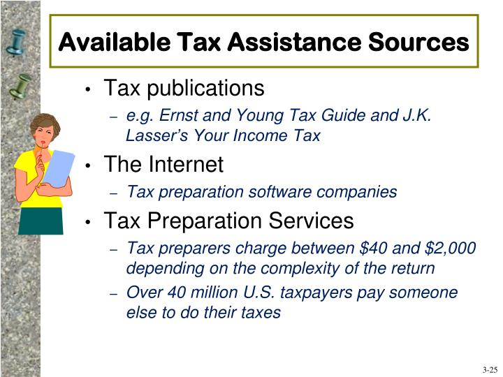 Available Tax Assistance Sources