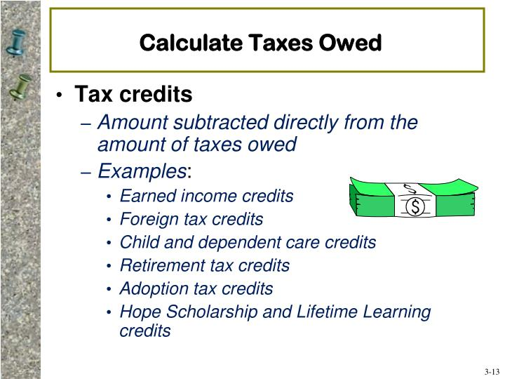 Calculate Taxes Owed