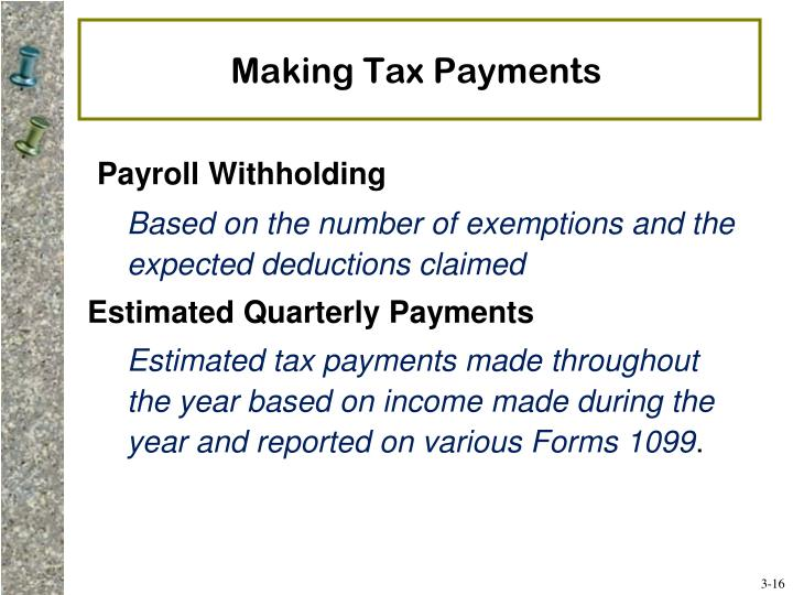 Making Tax Payments