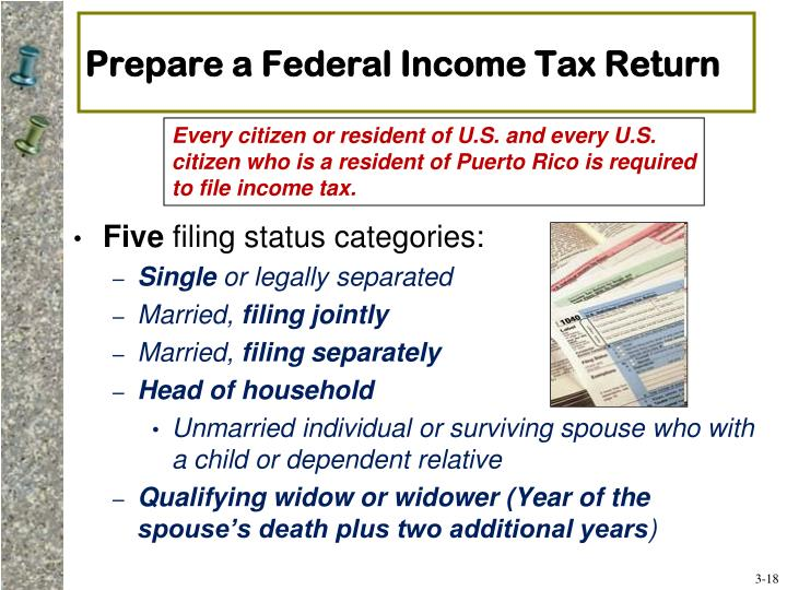 Prepare a Federal Income Tax Return