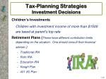 tax planning strategies investment decisions2