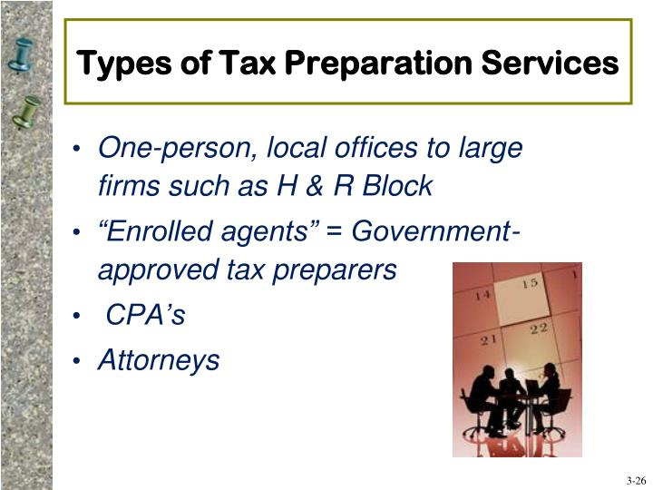 Types of Tax Preparation Services