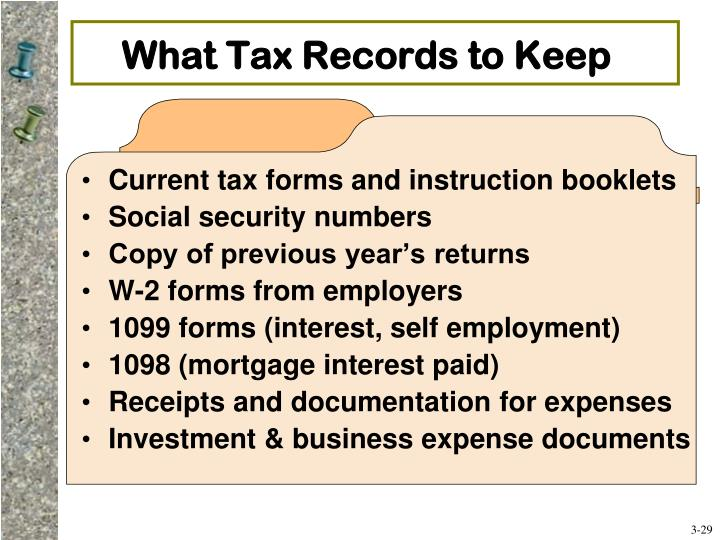 What Tax Records to Keep