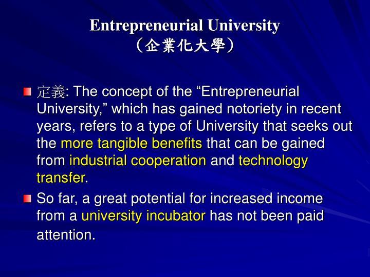 Entrepreneurial University