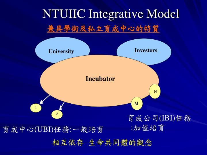 NTUIIC Integrative Model