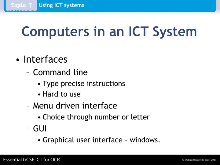 Computers in an ict system1
