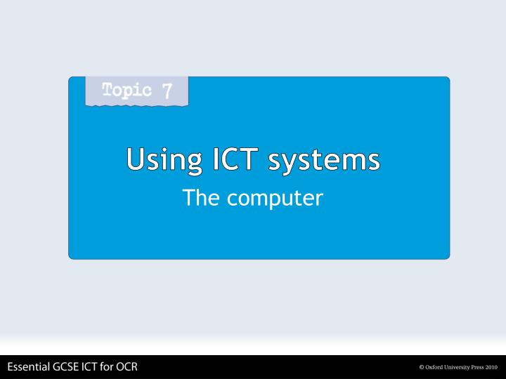 Using ict systems