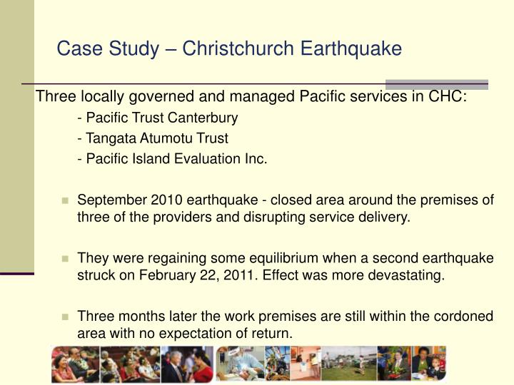 Case Study – Christchurch Earthquake