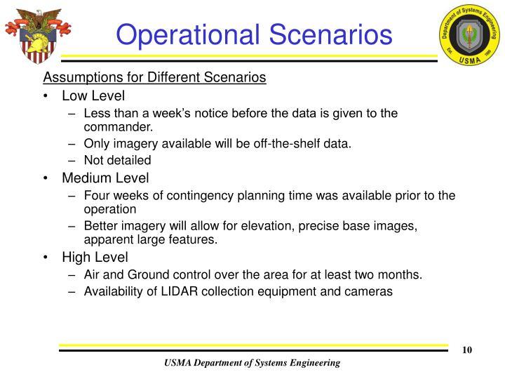 Operational Scenarios