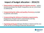 impact of budget allocation 2014 15