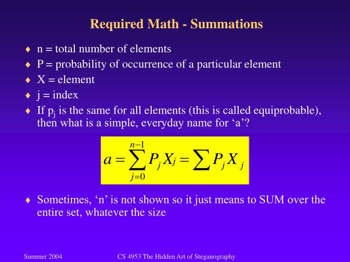 Required math summations2