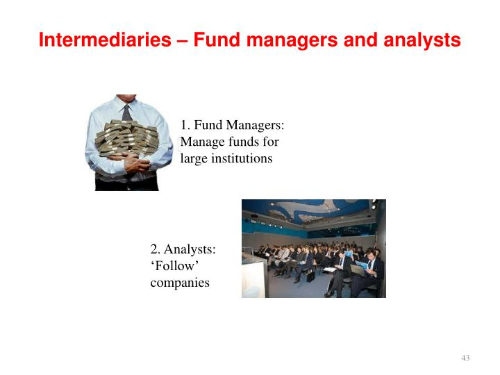 Intermediaries – Fund managers and analysts