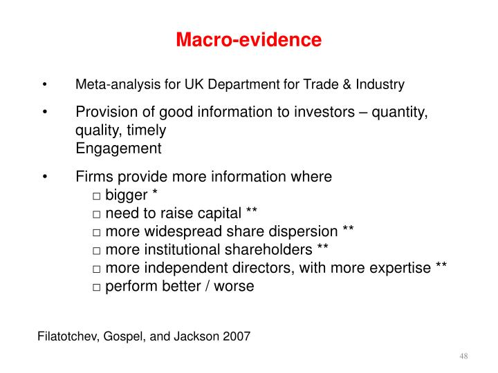 Macro-evidence